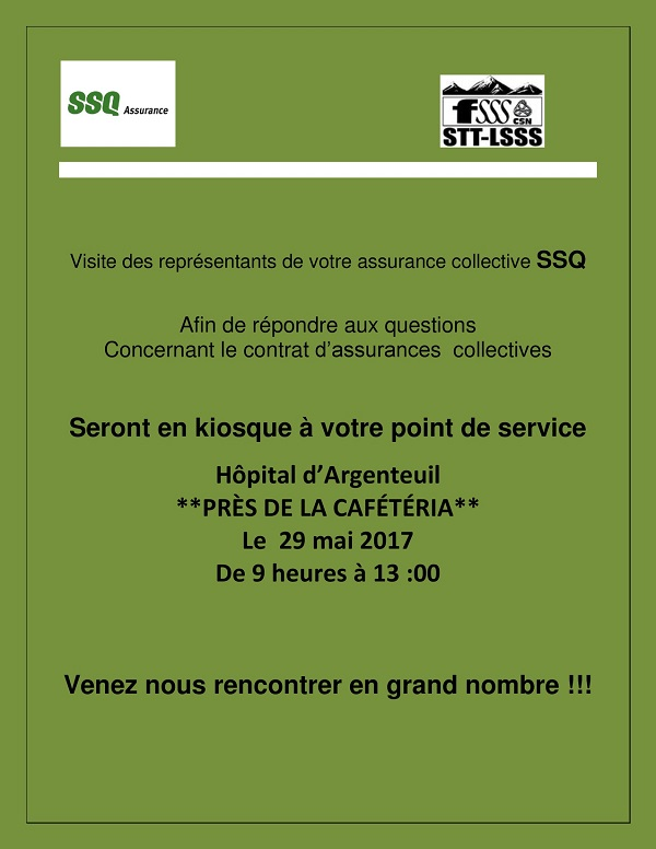 Tourn e d informations sur les assurances collectives - Bureau commun des assurances collectives ...